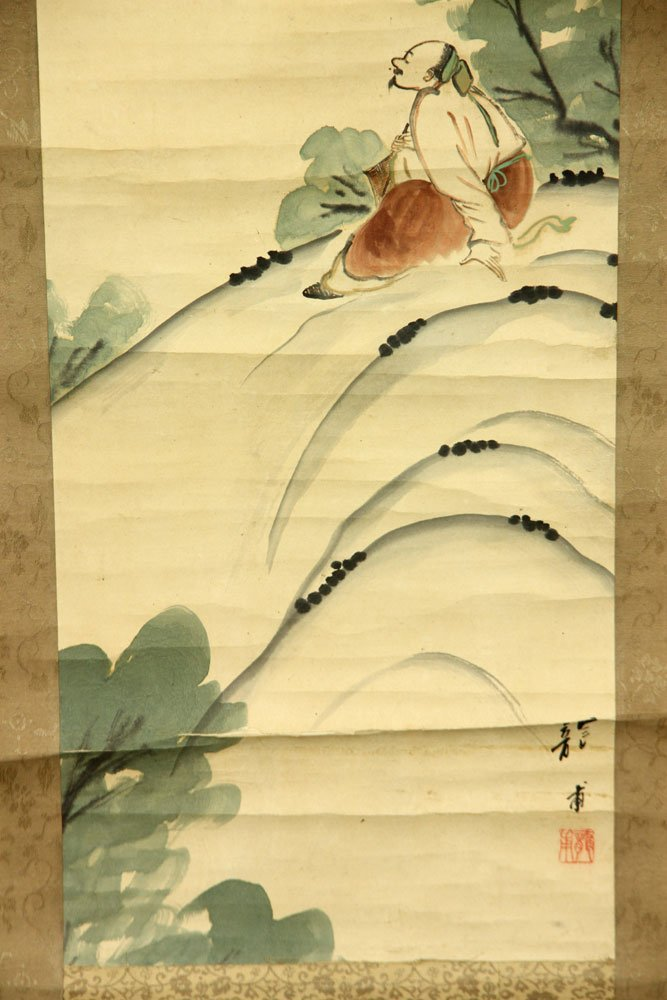 Four Japanese Scroll Paintings - 4