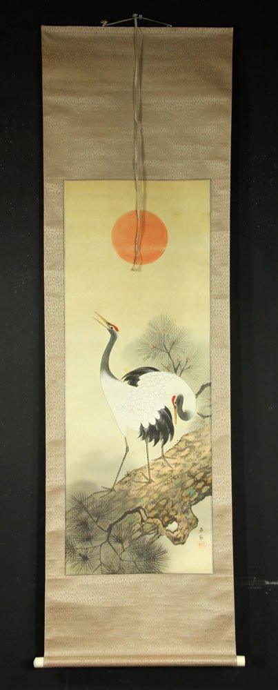 Four Japanese Scroll Paintings - 6