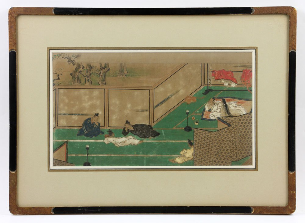 Antique Japanese Painting on Paper