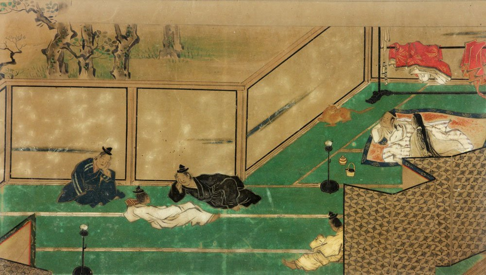 Antique Japanese Painting on Paper - 3