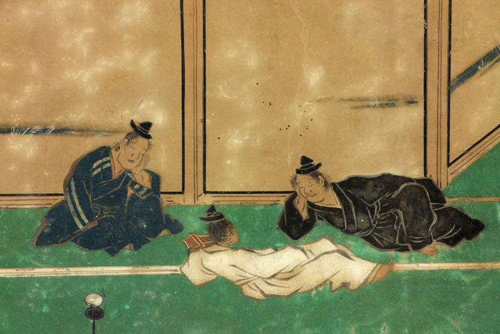Antique Japanese Painting on Paper - 4