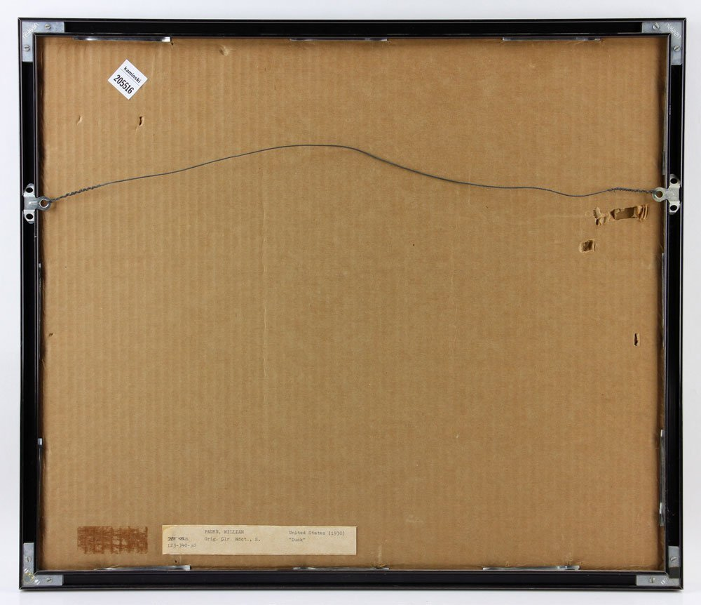 "Japanese Woodblock Print, ""Dusk"" - 2"