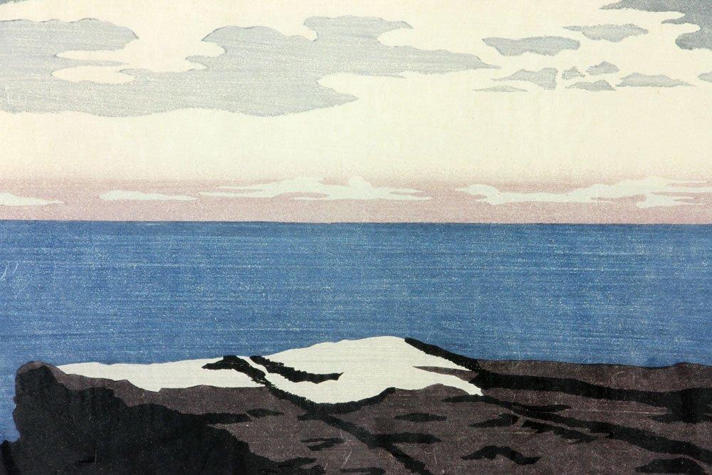 "Japanese Woodblock Print, ""Dusk"" - 3"