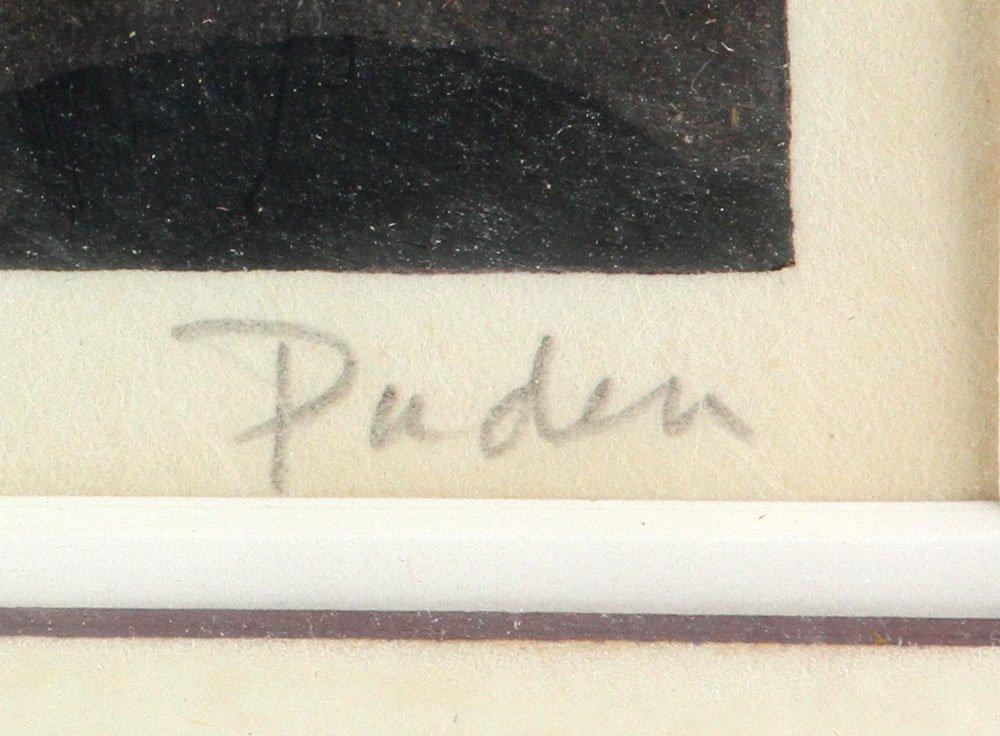 "Japanese Woodblock Print, ""Dusk"" - 4"