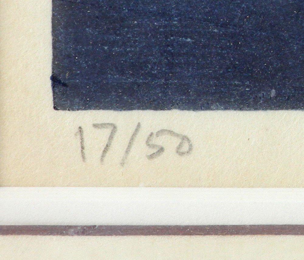"Japanese Woodblock Print, ""Dusk"" - 5"