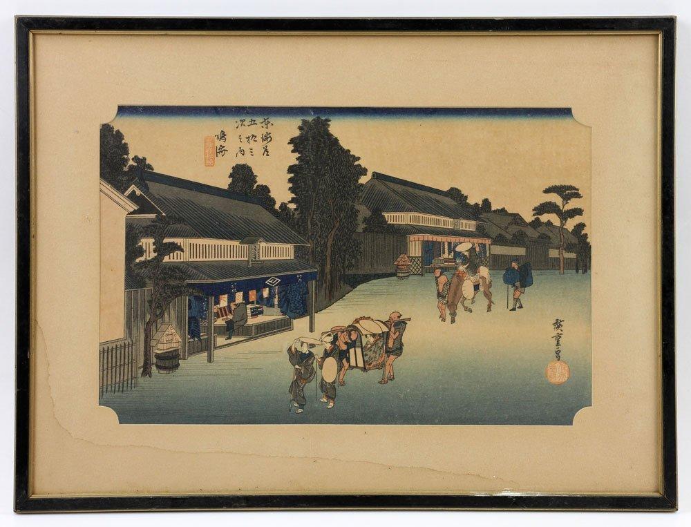 Four Japanese Woodblock Prints - 9