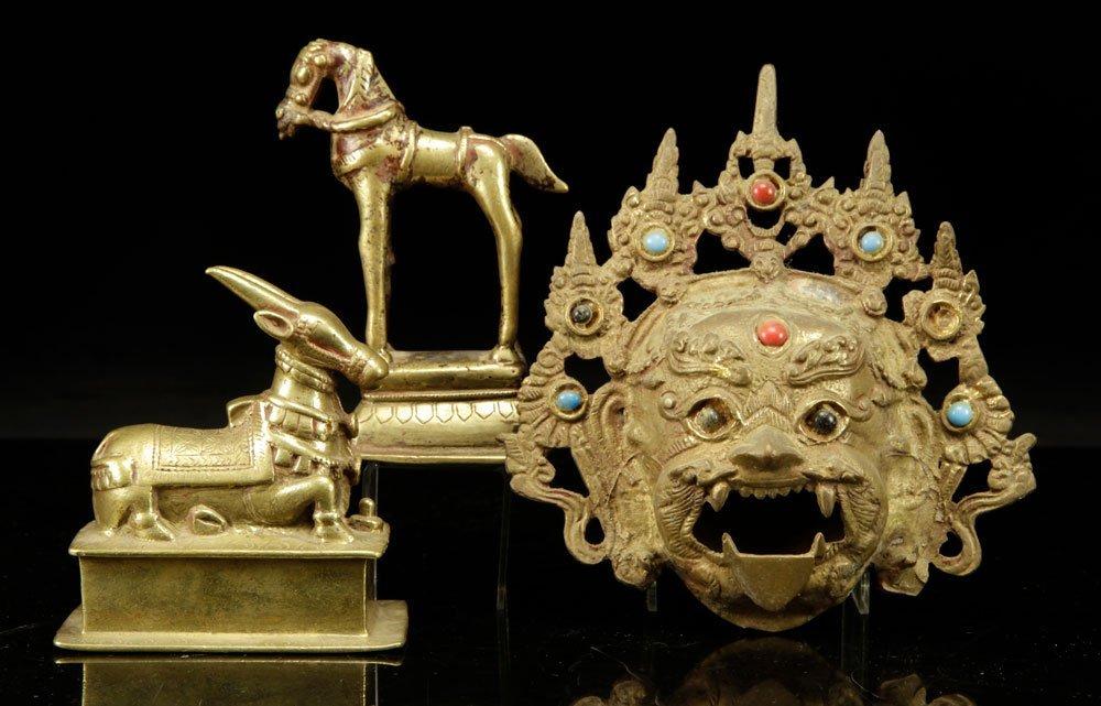 Three Tibetan Brass Figures