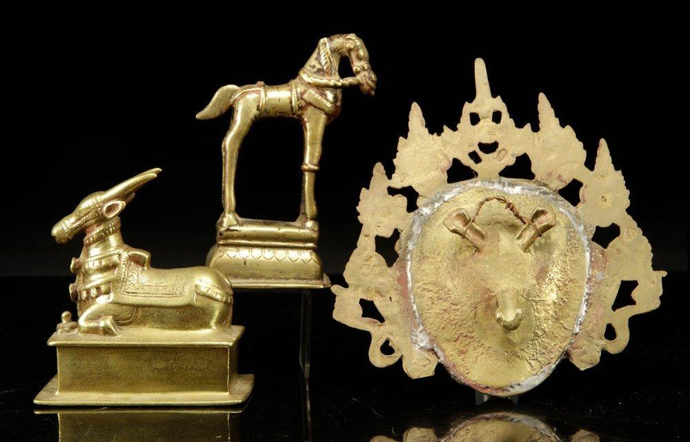 Three Tibetan Brass Figures - 2