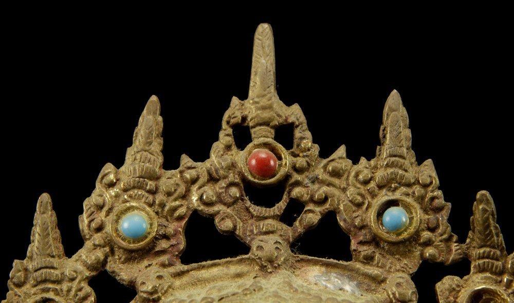Three Tibetan Brass Figures - 5