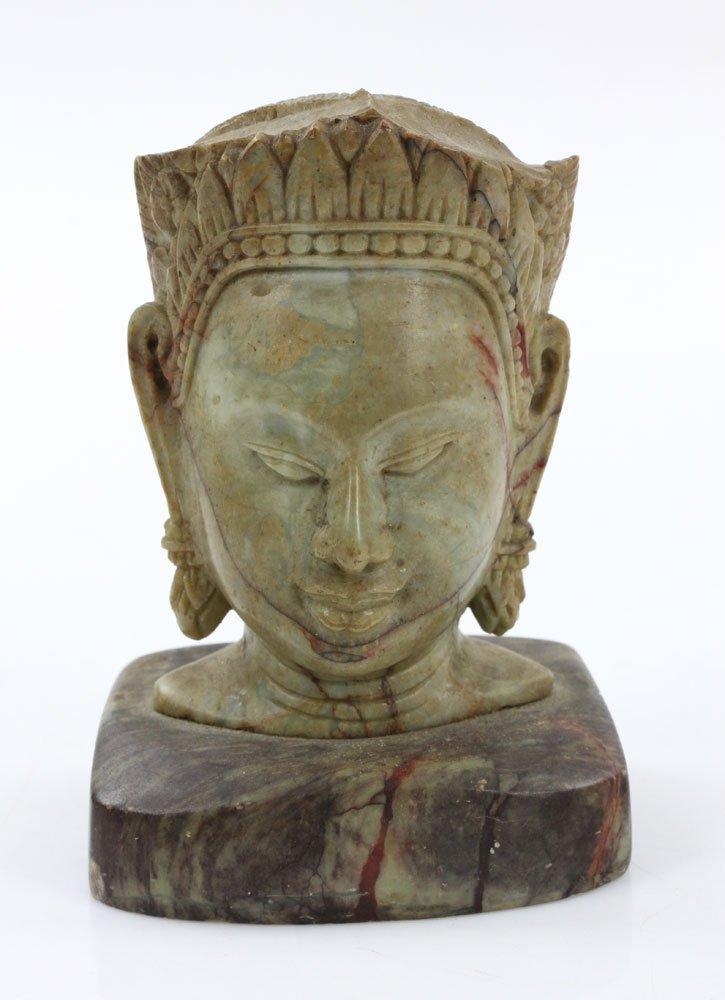 19th C. Thai Carved Soapstone Head