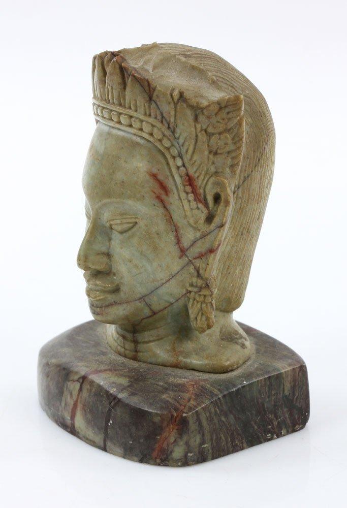 19th C. Thai Carved Soapstone Head - 3