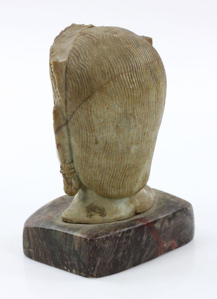 19th C. Thai Carved Soapstone Head - 4