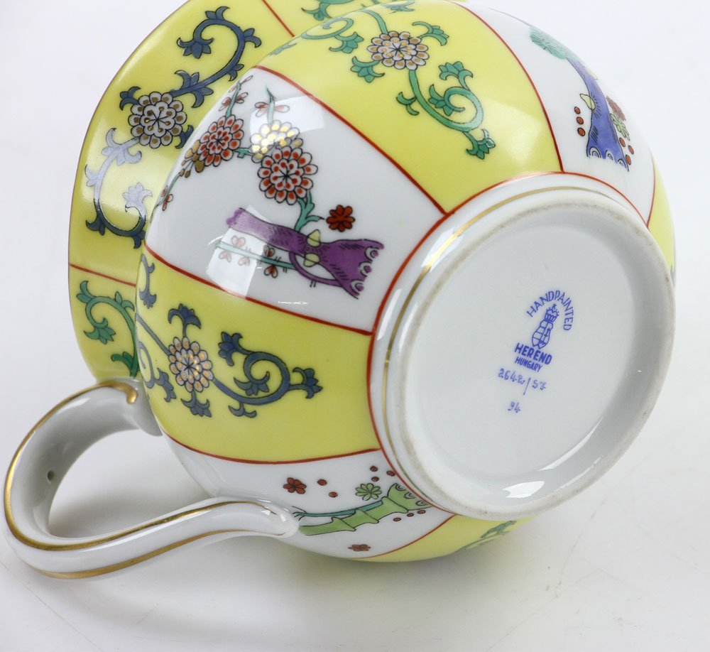 """Herend """"Yellow Dynasty"""" Coffee Service - 10"""