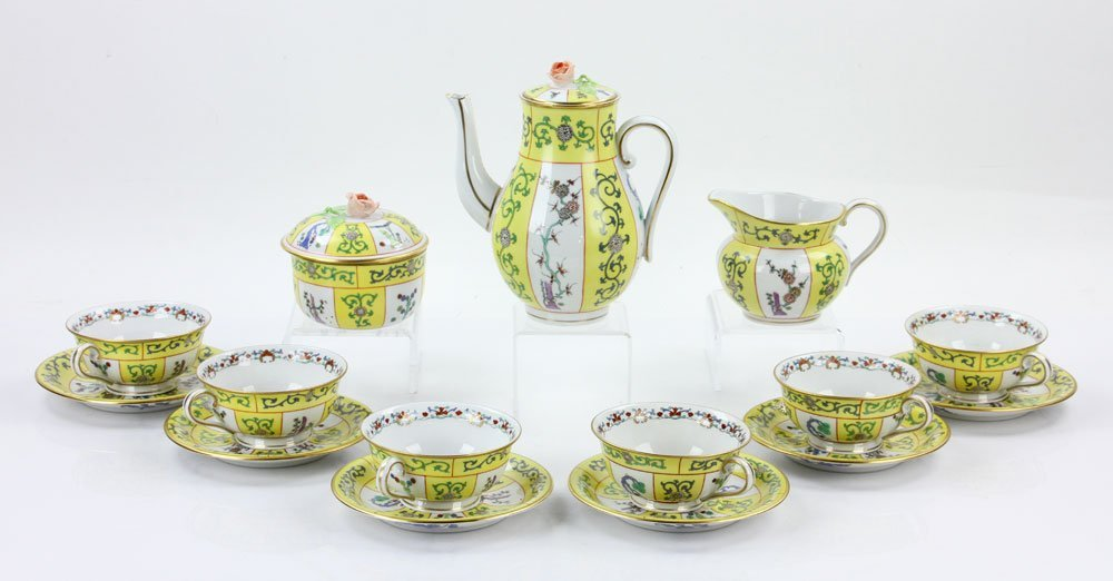 """Herend """"Yellow Dynasty"""" Coffee Service"""