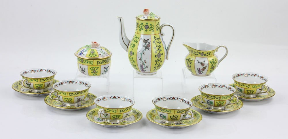 """Herend """"Yellow Dynasty"""" Coffee Service - 2"""