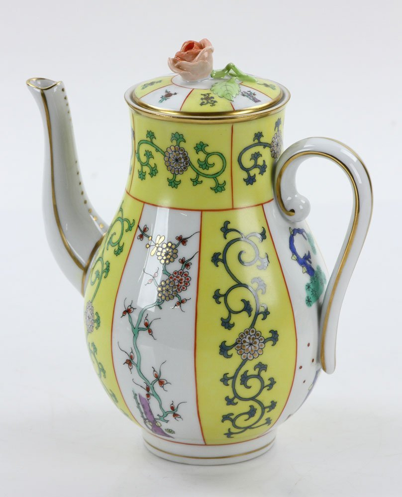 """Herend """"Yellow Dynasty"""" Coffee Service - 4"""