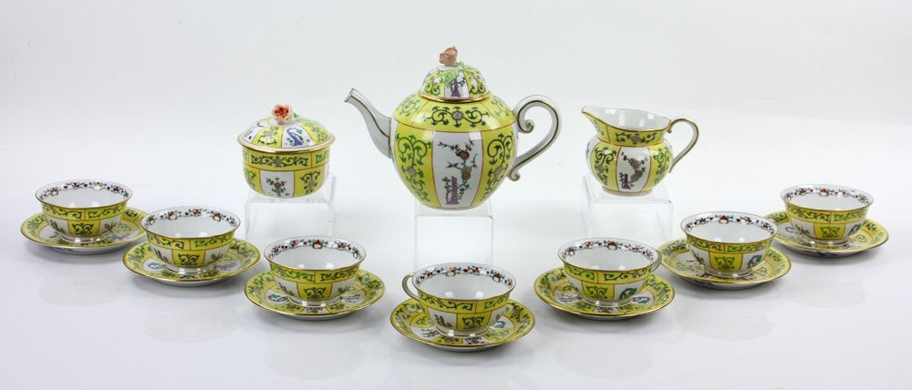 """Herend """"Yellow Dynasty"""" Tea Service"""