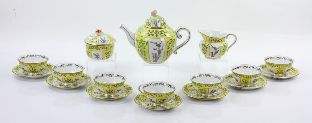 """Herend """"Yellow Dynasty"""" Tea Service - 2"""