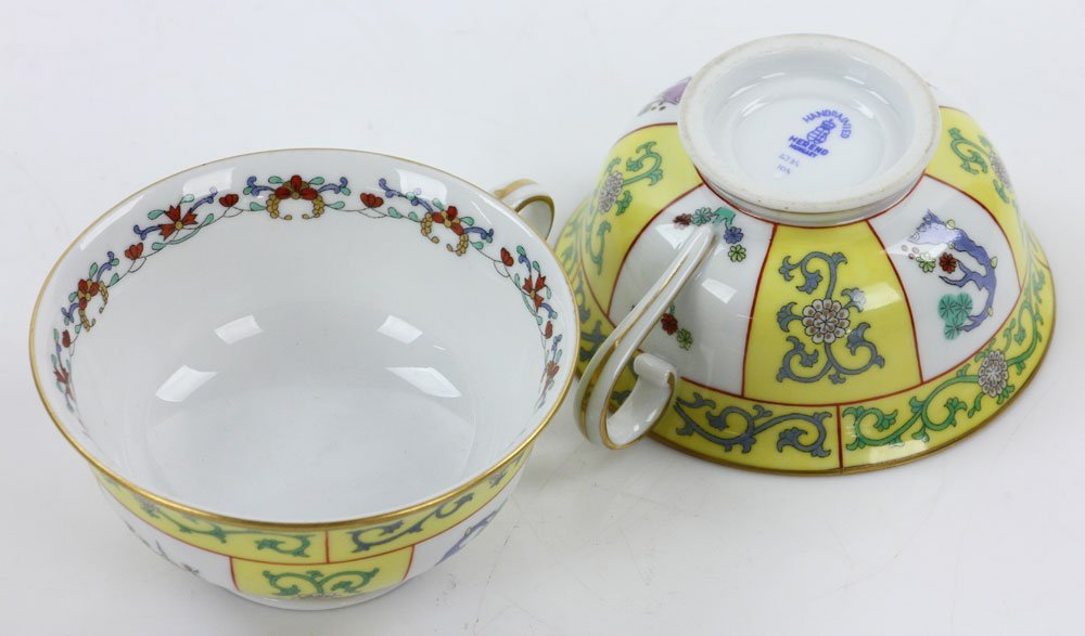 """Herend """"Yellow Dynasty"""" Tea Service - 4"""