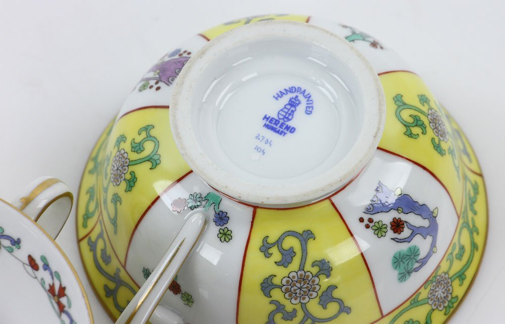 """Herend """"Yellow Dynasty"""" Tea Service - 5"""