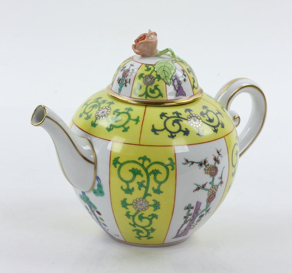 """Herend """"Yellow Dynasty"""" Tea Service - 7"""