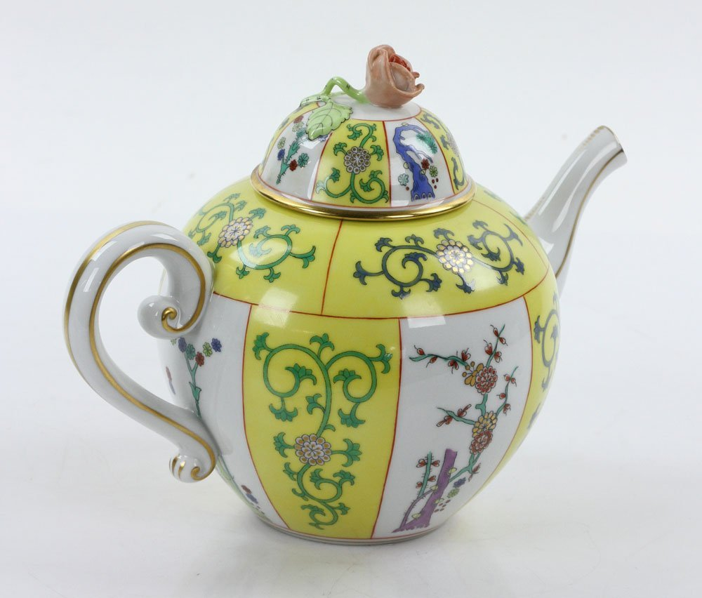 """Herend """"Yellow Dynasty"""" Tea Service - 8"""