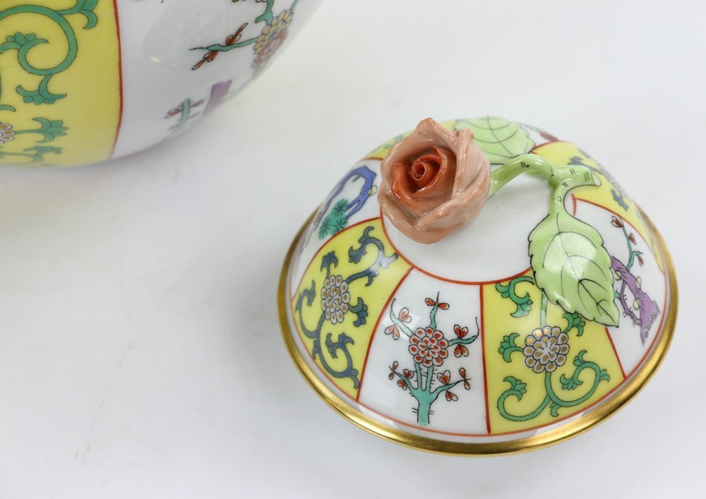 """Herend """"Yellow Dynasty"""" Tea Service - 9"""