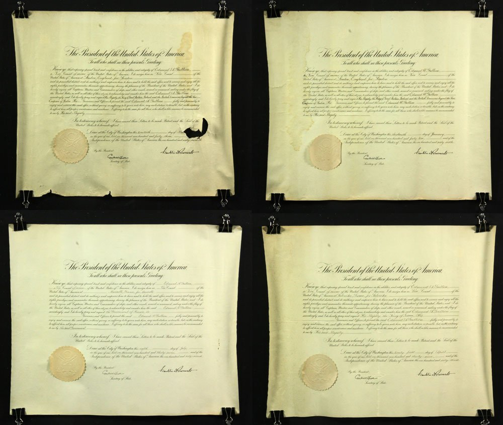 Collection of Four Franklin Roosevelt Appointment