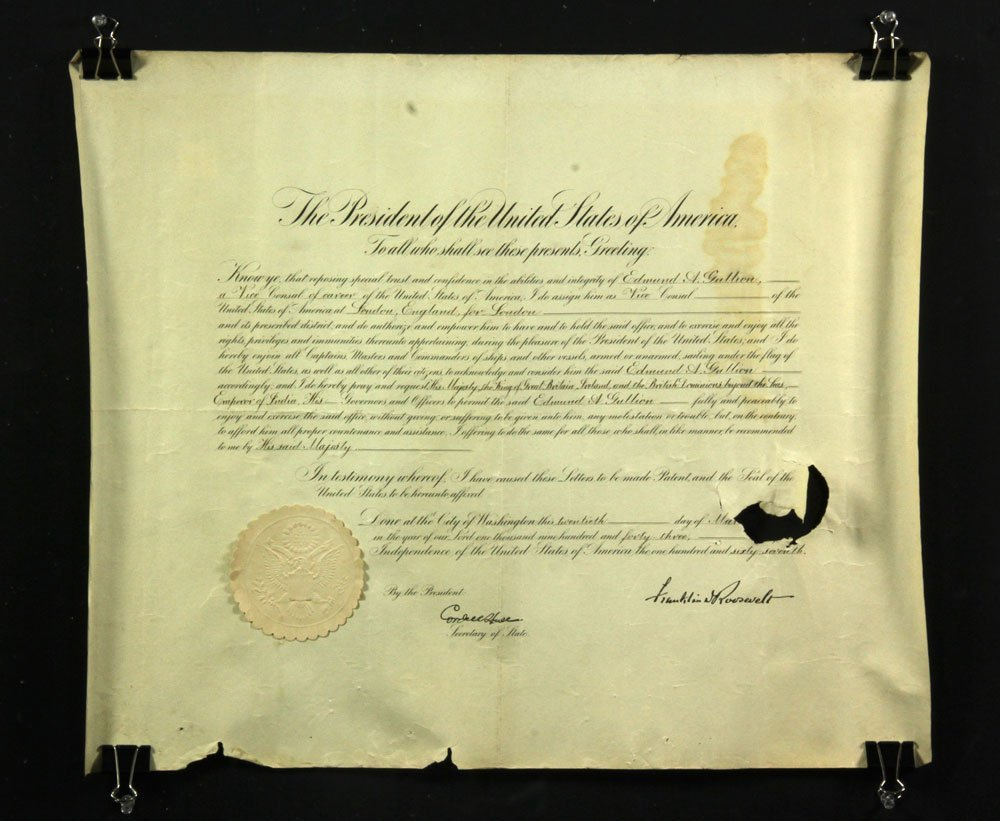 Collection of Four Franklin Roosevelt Appointment - 4