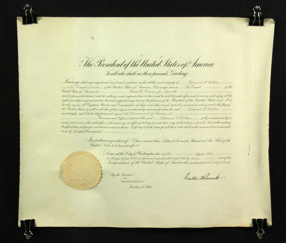 Collection of Four Franklin Roosevelt Appointment - 6