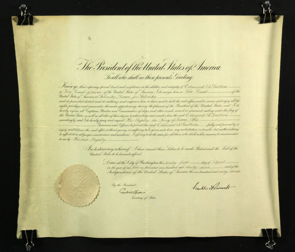 Collection of Four Franklin Roosevelt Appointment - 8