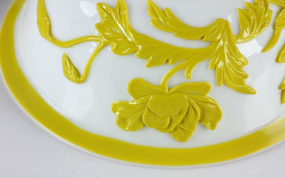 Chinese Peking Glass Yellow Bowl - 6