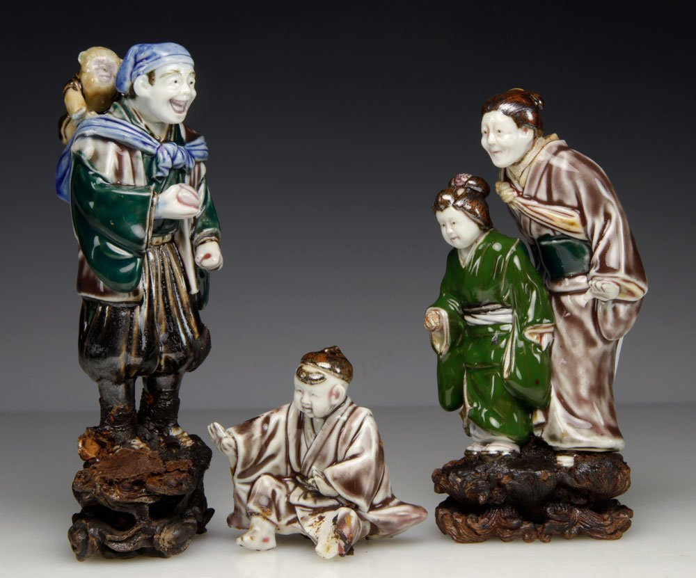 Three Japanese Porcelain Figures