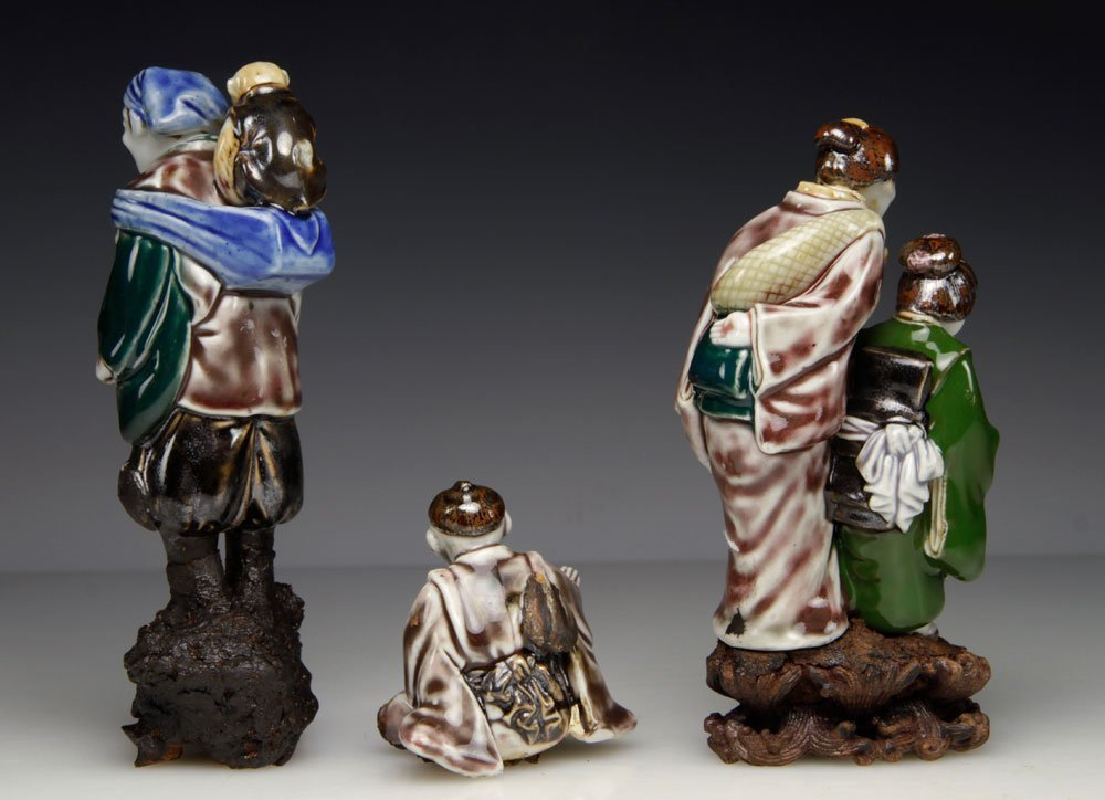 Three Japanese Porcelain Figures - 2