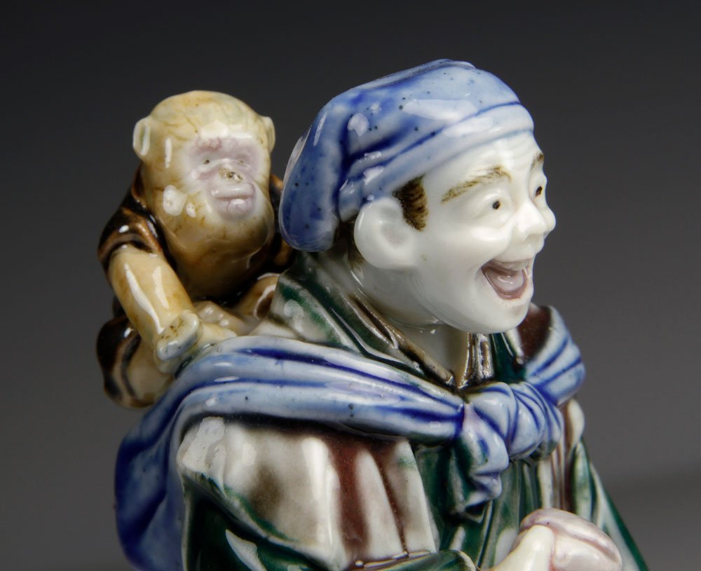 Three Japanese Porcelain Figures - 3