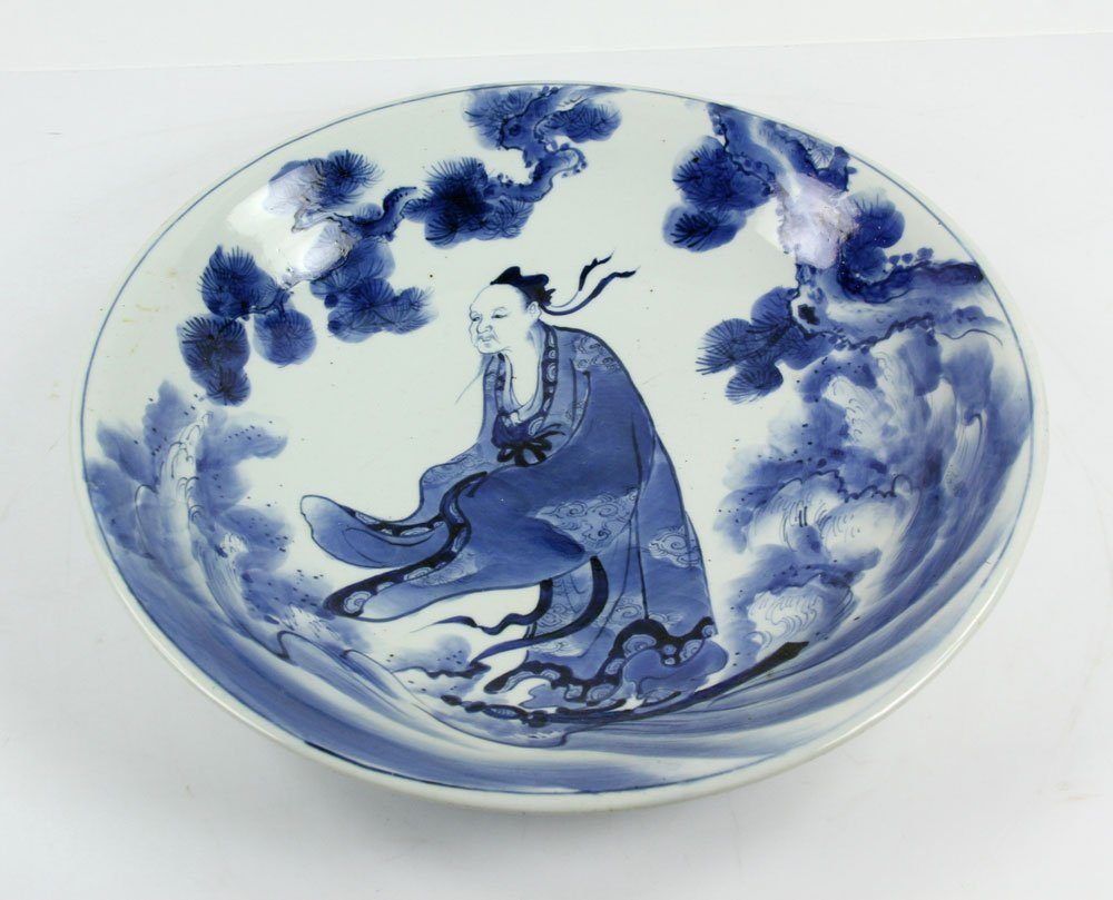 18th C. Japanese Blue and White Charger