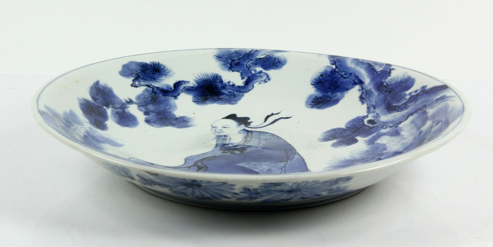 18th C. Japanese Blue and White Charger - 2