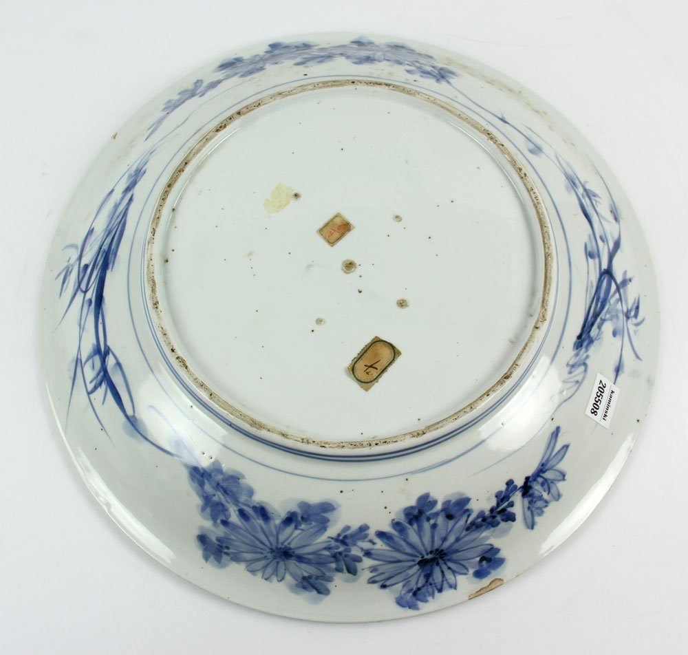 18th C. Japanese Blue and White Charger - 5