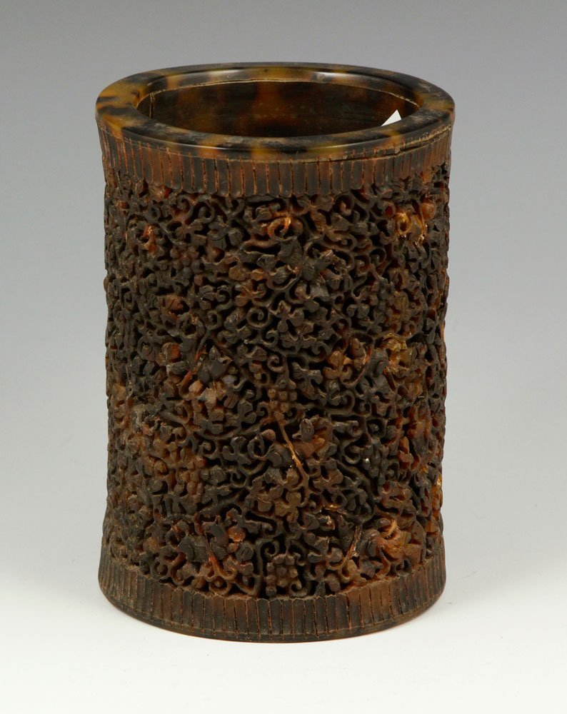 Chinese Carved Brush Pot - 2