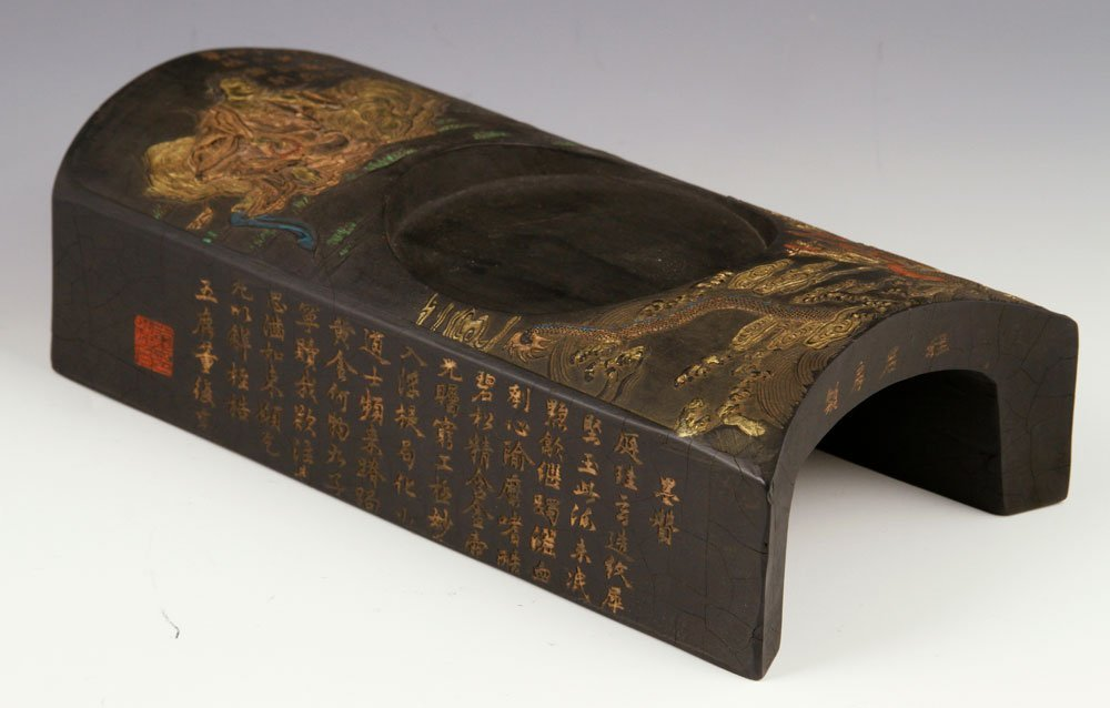 19th C. Chinese Carved Ink Stand