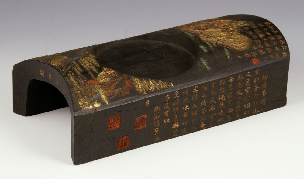 19th C. Chinese Carved Ink Stand - 2