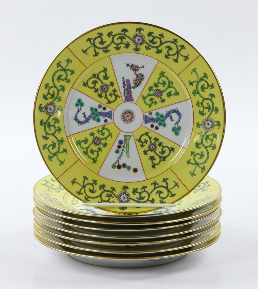 """Herend """"Yellow Dynasty"""" Dinner Service, 80 Pieces - 10"""