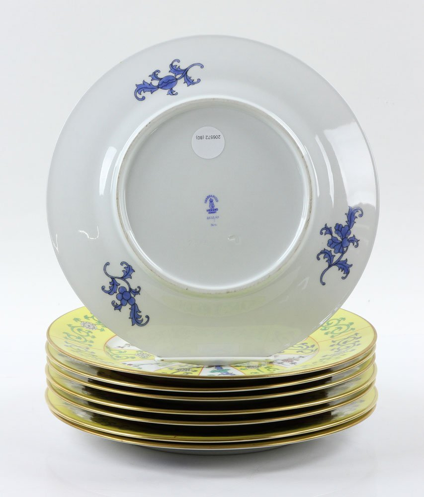 """Herend """"Yellow Dynasty"""" Dinner Service, 80 Pieces - 7"""