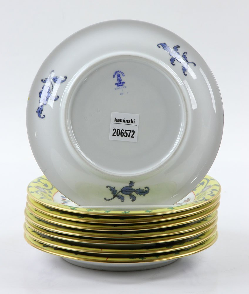 """Herend """"Yellow Dynasty"""" Dinner Service, 80 Pieces - 9"""
