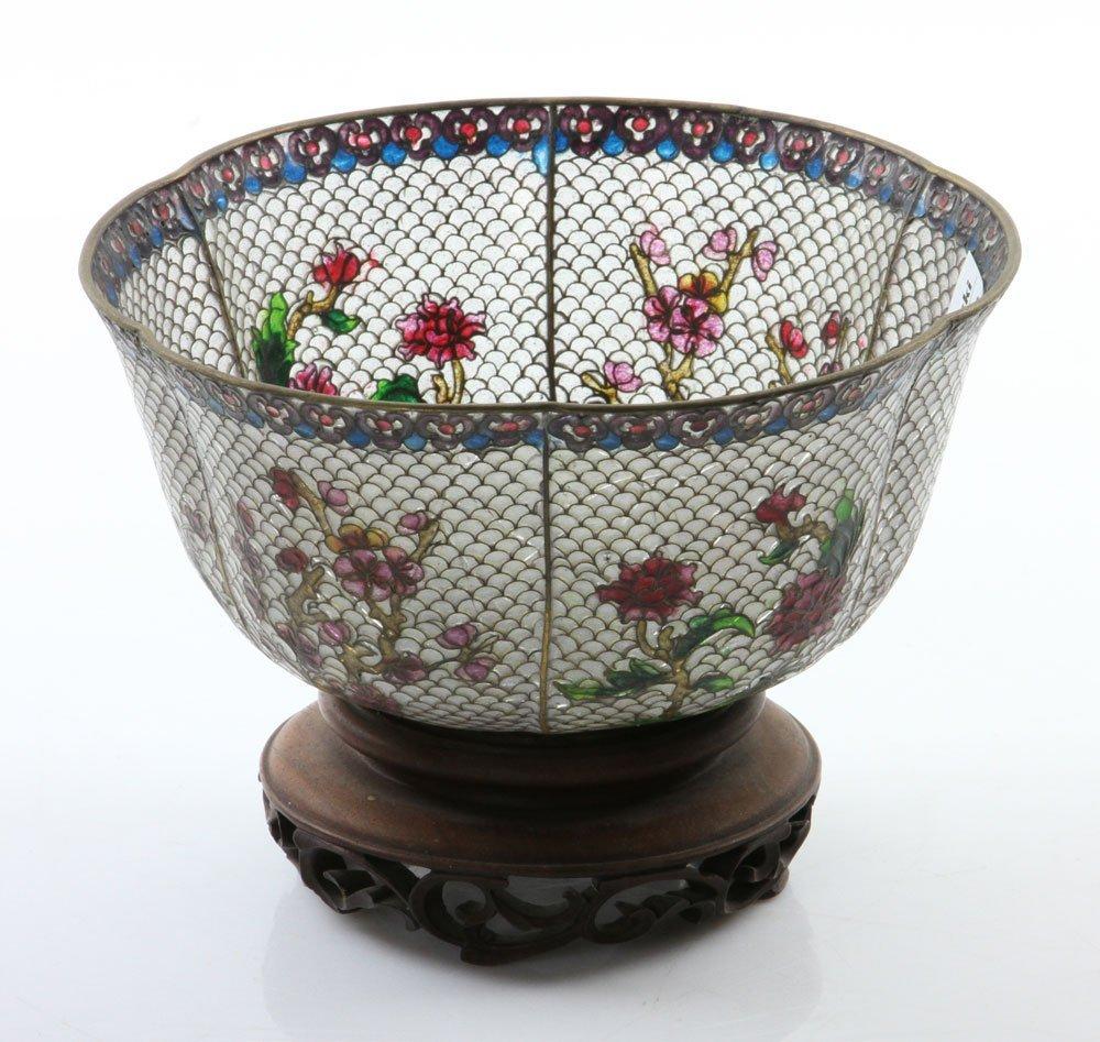 Chinese Plique-du-jour Bowl