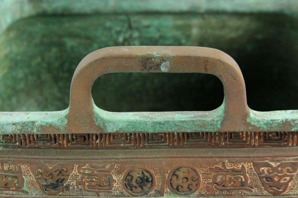 Chinese Bronze Planter with Handles - 5