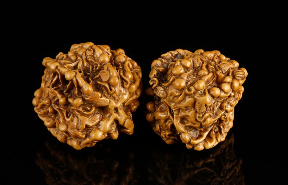 Pr. Chinese Carved Walnuts - 2