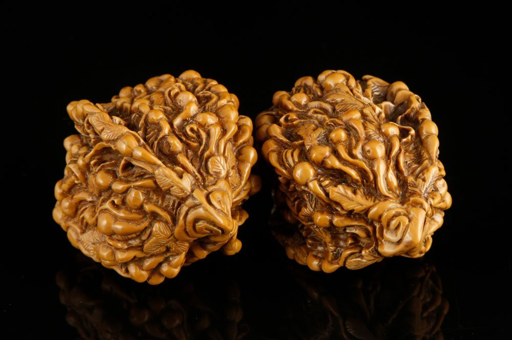Pr. Chinese Carved Walnuts - 3