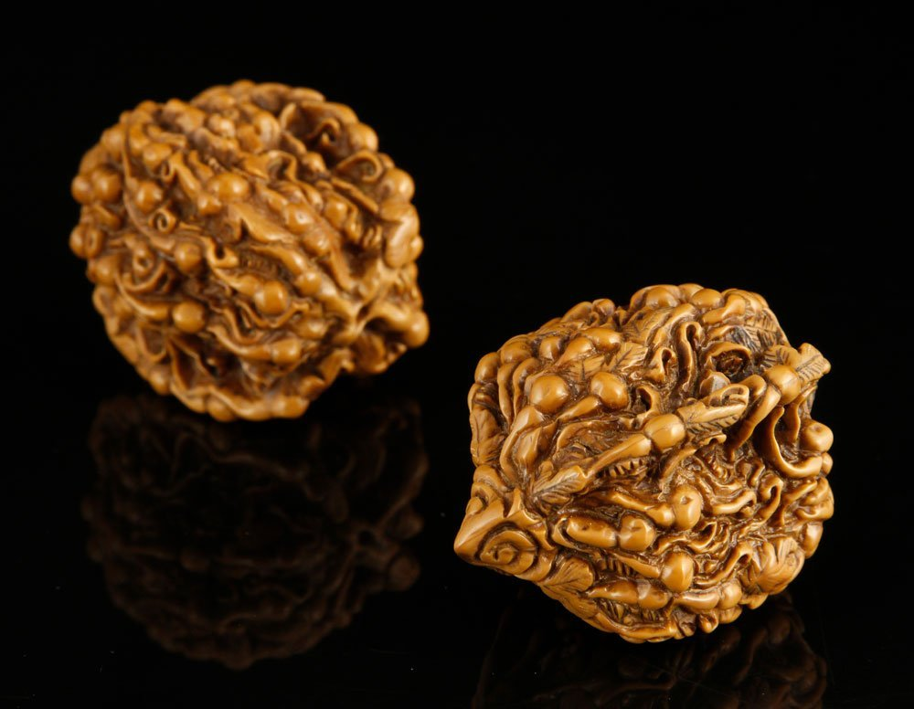 Pr. Chinese Carved Walnuts - 4