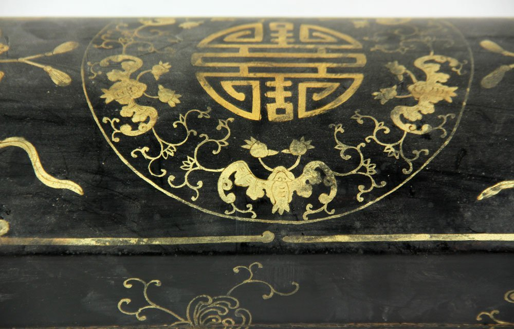 Chinese Lacquer and Gold Decorated Box - 7